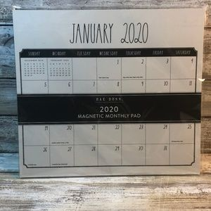 Rae Dunn 2020 Monthly Magnetic Pad Calendar